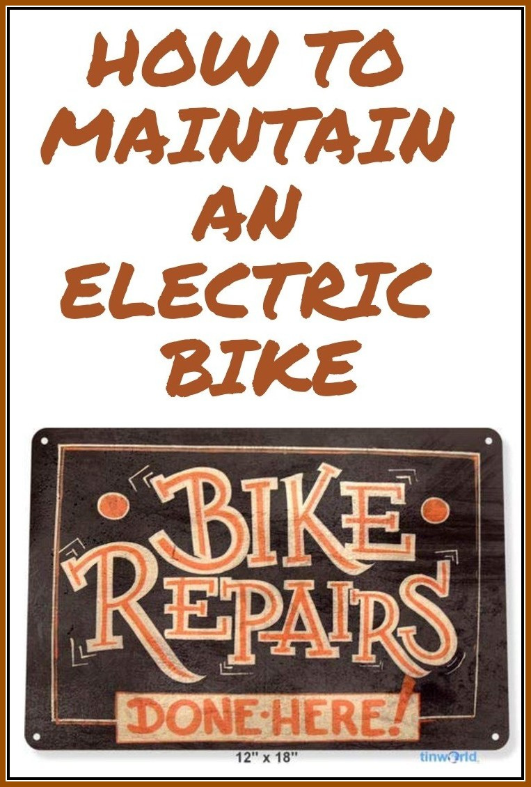 How to maintain an electric bike